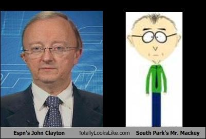 cartoons John Clayton Mr Mackey South Park sports