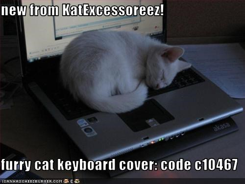 new from KatExcessoreez! furry cat keyboard cover: code