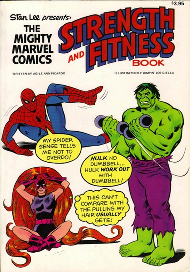 marvel fitness off the page vintage comics - 158725