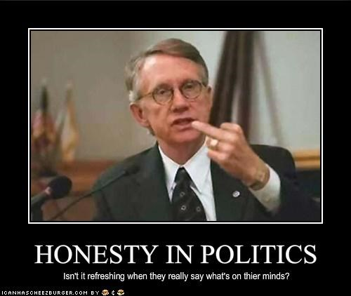 democrats Harry Reid honesty United States Senate