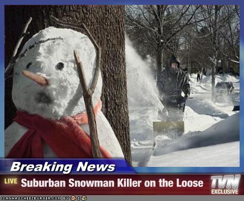 lolobjects,lolsnowmen,murder,news,snowman