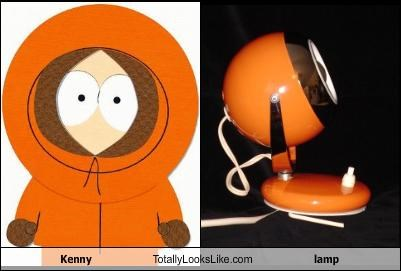 furniture,Kenny,lamp,orange lamp,South Park