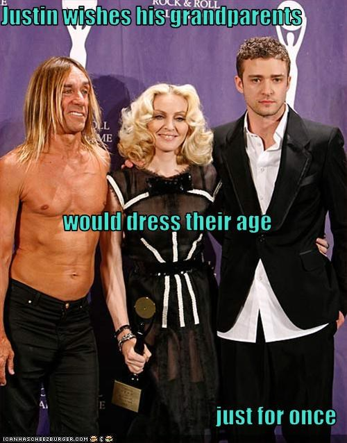 iggy pop Justin Timberlake Madonna old people rocking out - 1604887808