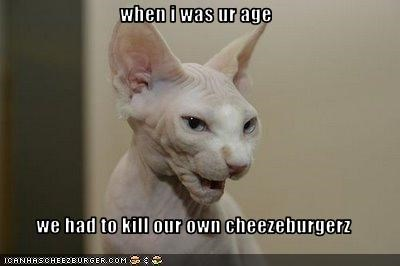 cheezburgers Grandpa hairless lolcats old - 1609803008