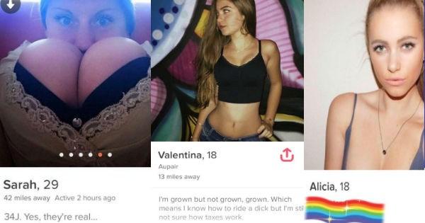 slutty tinder profiles
