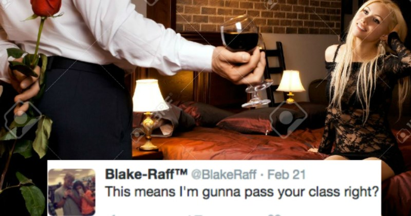 after sex convos | Person - N23RF Blake-RaffTM @BlakeRaff Feb 21 This means gunna pass class right? 123RF 23RF 17 231 661