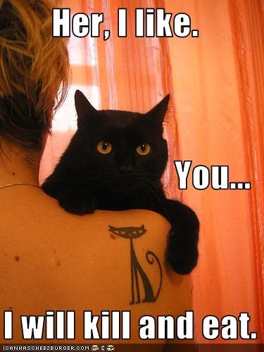 lolcats love murder tattoo threats - 1616518400