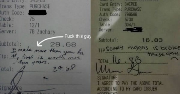customer service tips restaurant funny receipt - 1622277