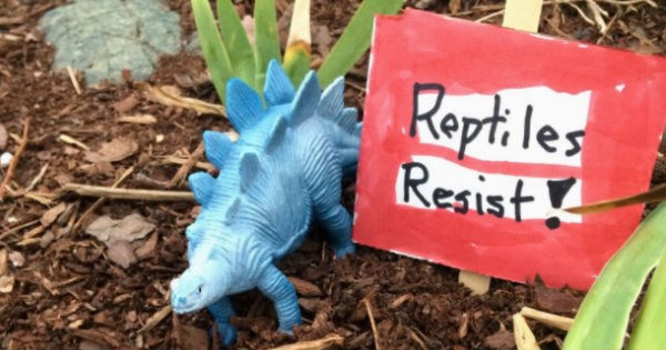 adorable,Protest,toys,signs,resistance,dinosaurs