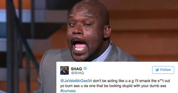 angry,basketball,reaction,Shaq,nba,rage,twitter