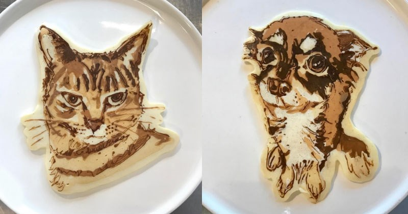 cool art pancakes food animals - 1659141