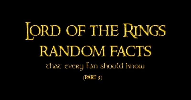 facts about lord of the rings