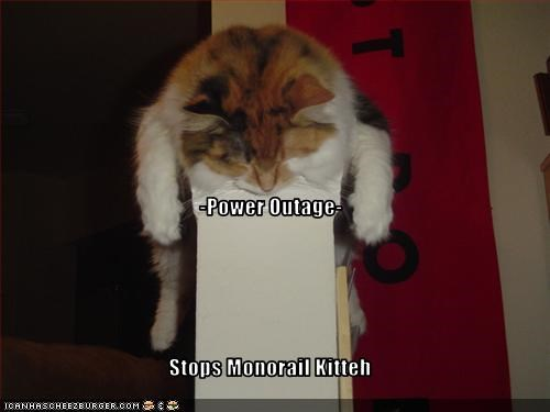 Power Outage Stops Monorail Kitteh Cheezburger Funny Memes Funny Pictures