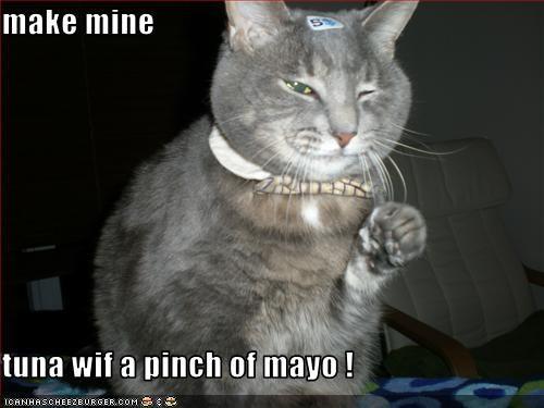 make mine  tuna wif a pinch of mayo !