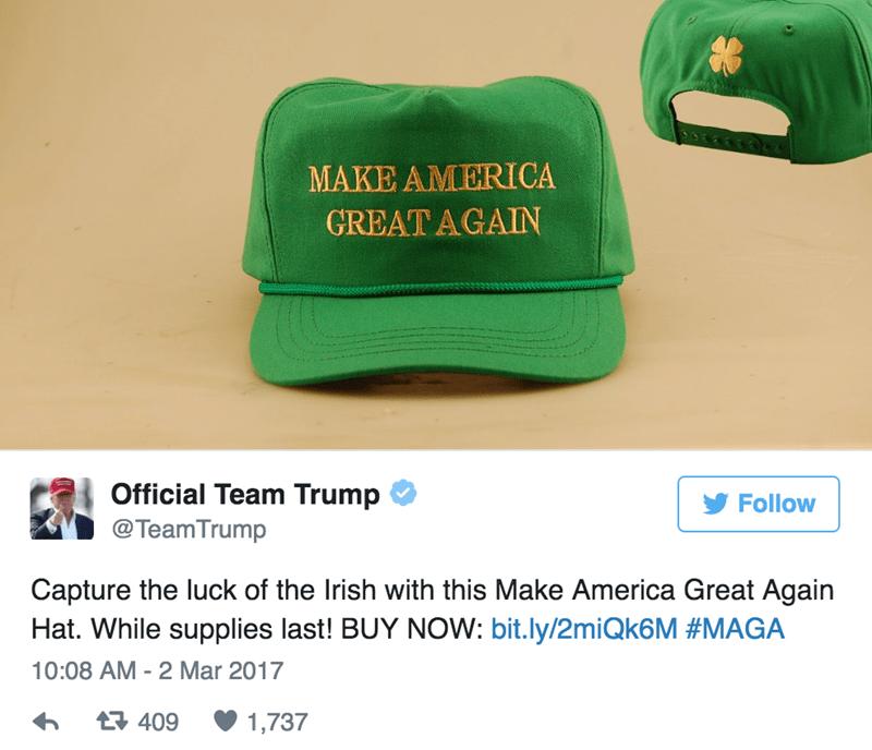 donald Trump st patricks day