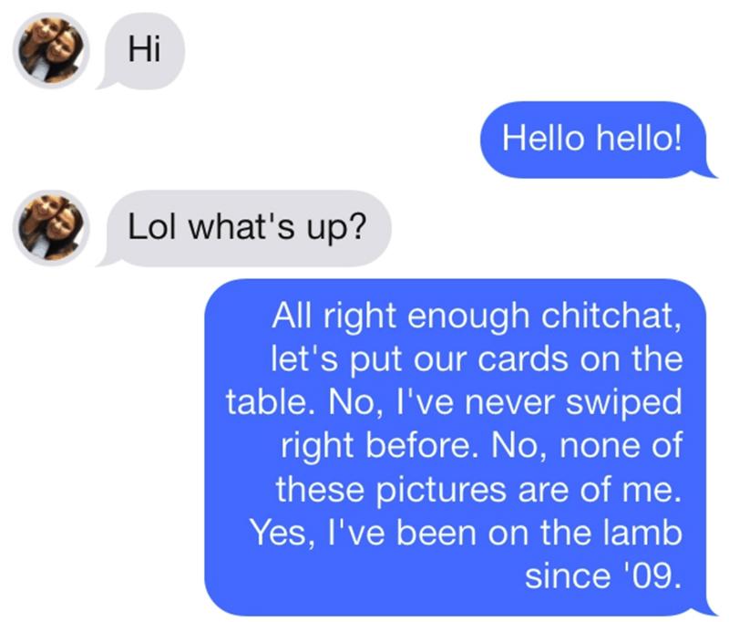 Trolling Match On Tinder