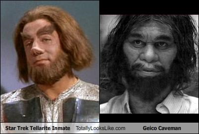 Caveman commercials GEICO space Star Trek