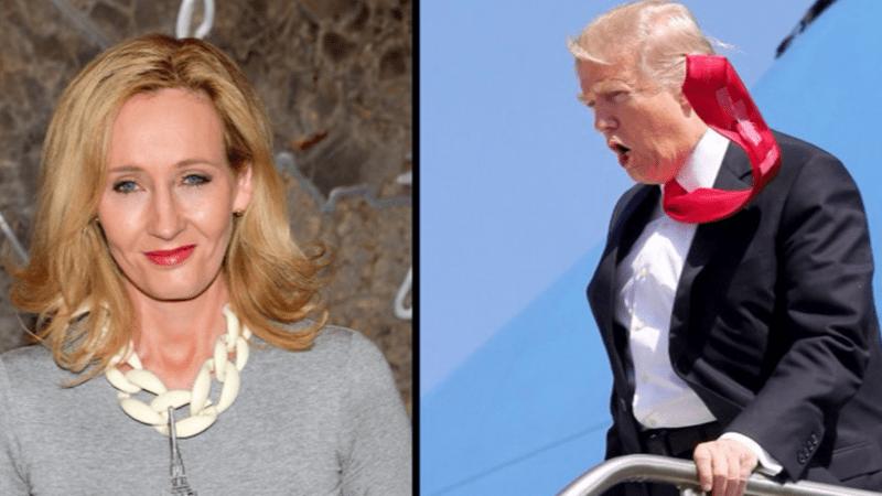Donald Trump vs jk rowling