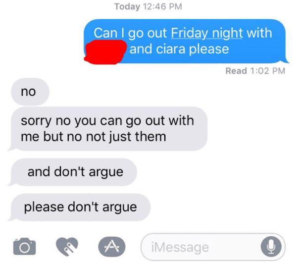 boyfriend conversation girlfriend texting dating