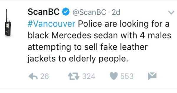 Canadian Police Department's Tweets Are Comedic Gold