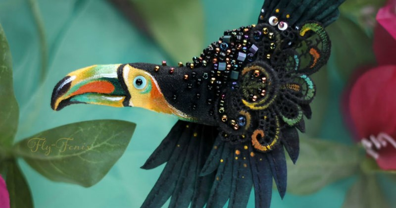 beautiful artworks of fake birds that will make you look a second time