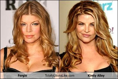 Fergie Totally Looks Like Kirsty Alley