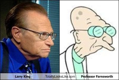 cartoons cnn futurama Larry King Media