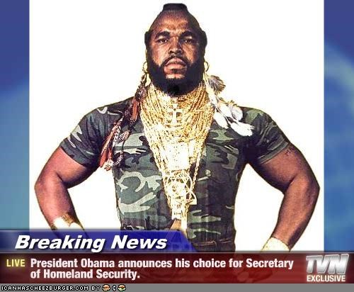 A Team barack obama homeland security mr t political humor president