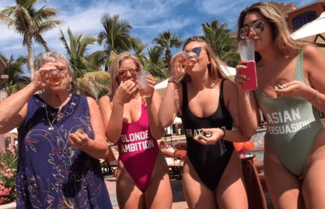 drinking,mexico,grandma,spring break,college