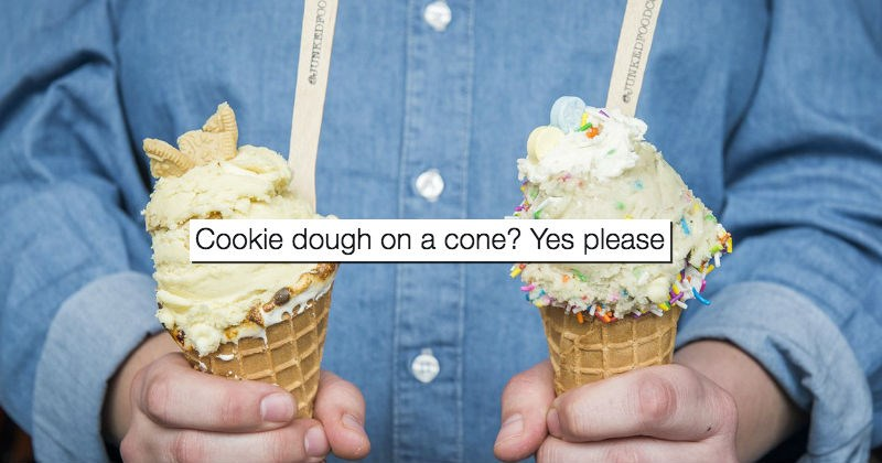 cone cookie dough dessert food ice cream cone - 1734405