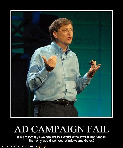 Bill Gates FAIL microsoft technology Windows Vista windows xp