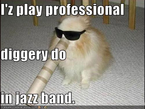 I Z Play Professional Diggery Do In Jazz Band Cheezburger