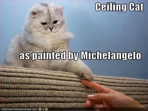 art ceiling cat painting - 1753475840