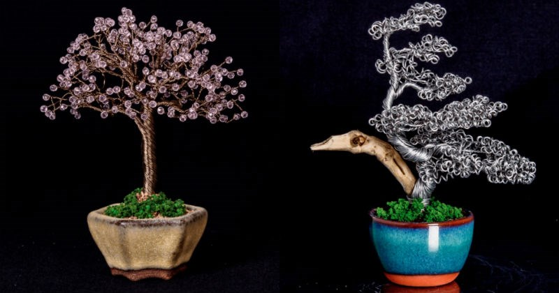 wires metal plants Bonsai crafts tree - 1764613