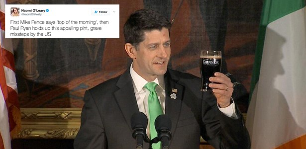 beer paul ryan guinness politics