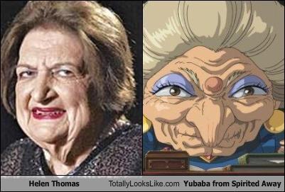 Helen Thomas Totally Looks Like Yubaba from Spirited Away