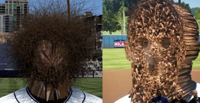 scary twitter wtf baseball nightmare fuel glitches MLB