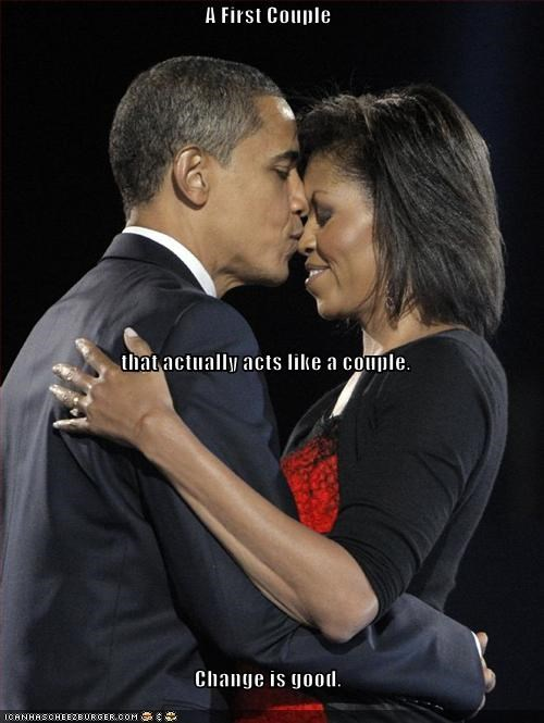 barack obama democrats First Lady KISS marriage Michelle Obama president - 1781607168