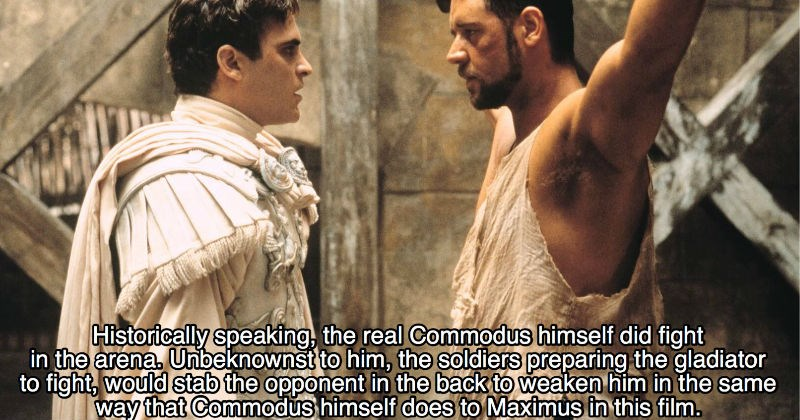 gladiator movie facts