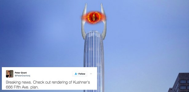 Trump's Son-In-Law Is Building Mordor's Tower of Orthanc in the Middle of New York City