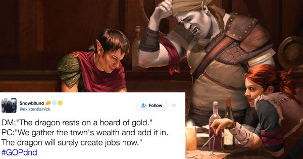 Hilarious Trending Hashtag Surfaces Claiming Republicans Are Terrible at Dungeons & Dragons
