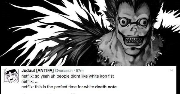 anime death note twitter racism whitewashing reactions angry - 1795589