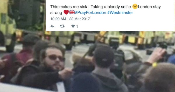 insensitive selfie UK idiots