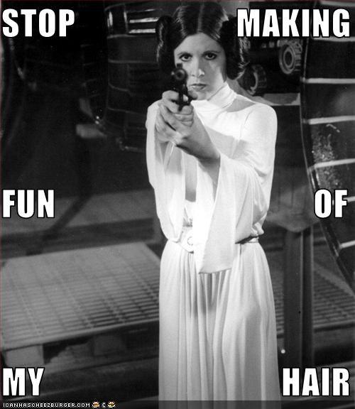 carrie fisher guns movies Princess Leia star wars - 1801383680
