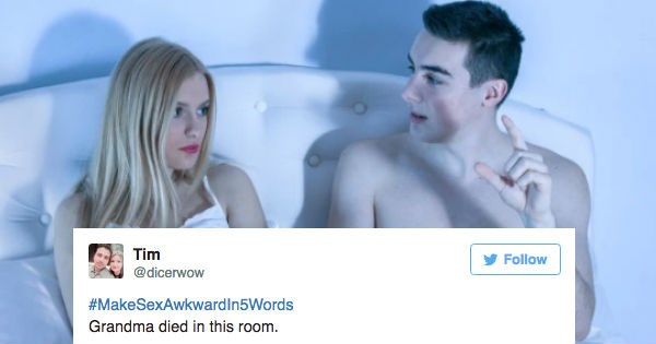 Cringe-Inducing Trending Hashtag #MakeSexAwkwardIn5Words Is Guaranteed To Make Your Manhood Cower In Disgust