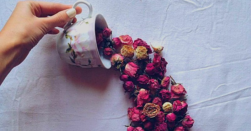 list,flowers,tea,beauty