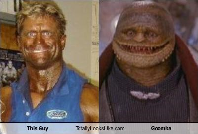 fake tan goomba Hall of Fame super mario brothers weightlifter