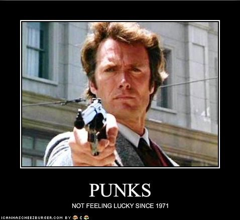 Clint Eastwood,dirty harry,punks