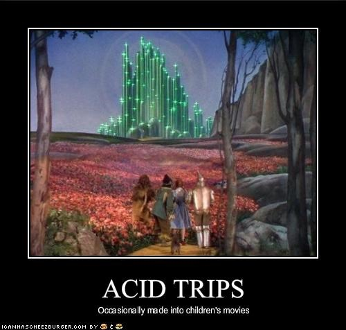 acid trip drugslots-and-lots-of-drugs psychedelic The Emerald City the wizard of oz the yellow brick road - 1816393984