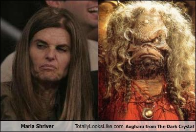 Maria Shriver Totally Looks Like Aughara from The Dark Crystal